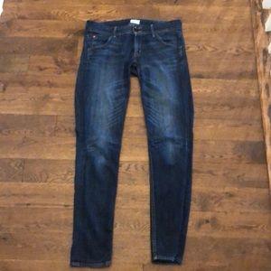 Hudson dark wash jeans Collin flap skinny